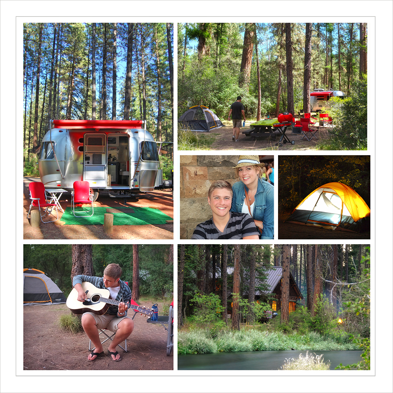 Smiling River Campground at Camp Sherman, Oregon