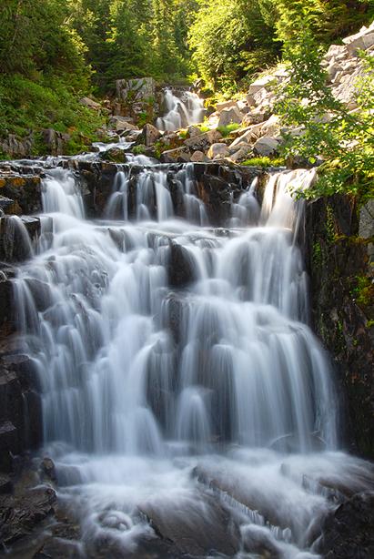 Waterfall near road side.