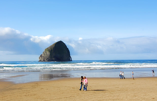 Haystack Rock at Cape Kiwanda.