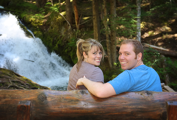 Lindsey and Corey at Zig Zag Falls