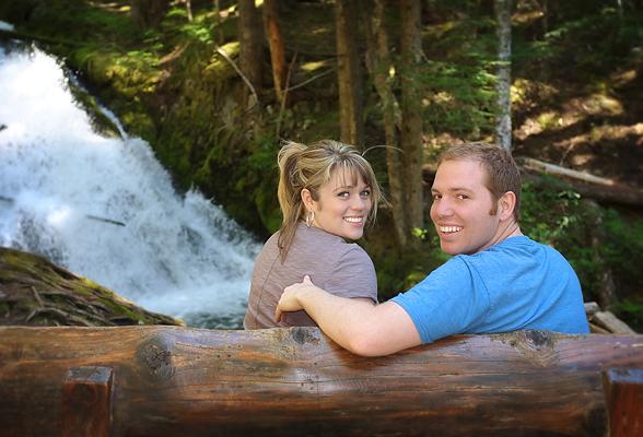 Lindsey and Corey at Zig Zag Falls