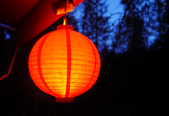 New paper lanterns we picked up!