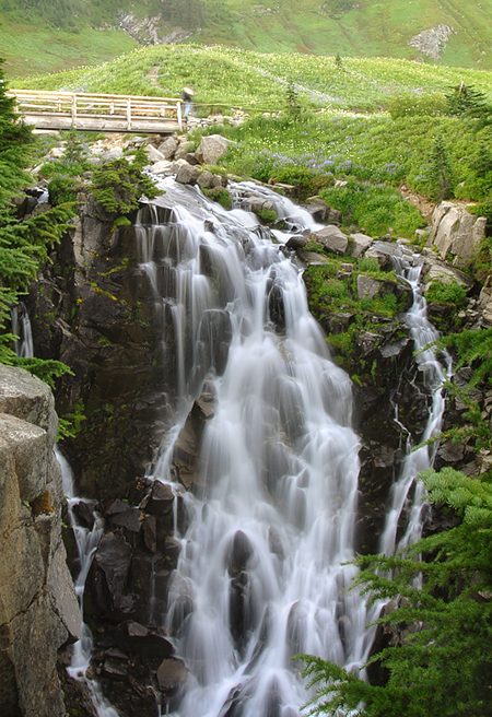 Waterfall on Paradise Trail.