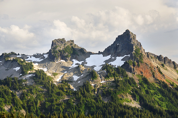 Rugged peaks of the Cascade Range.