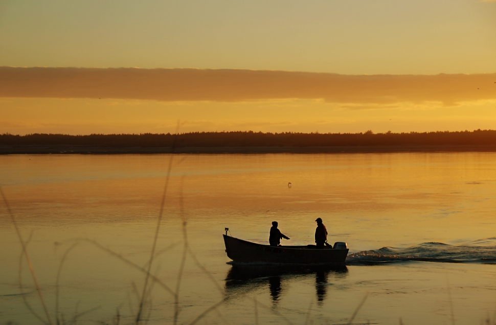 Fishermen in the bay.
