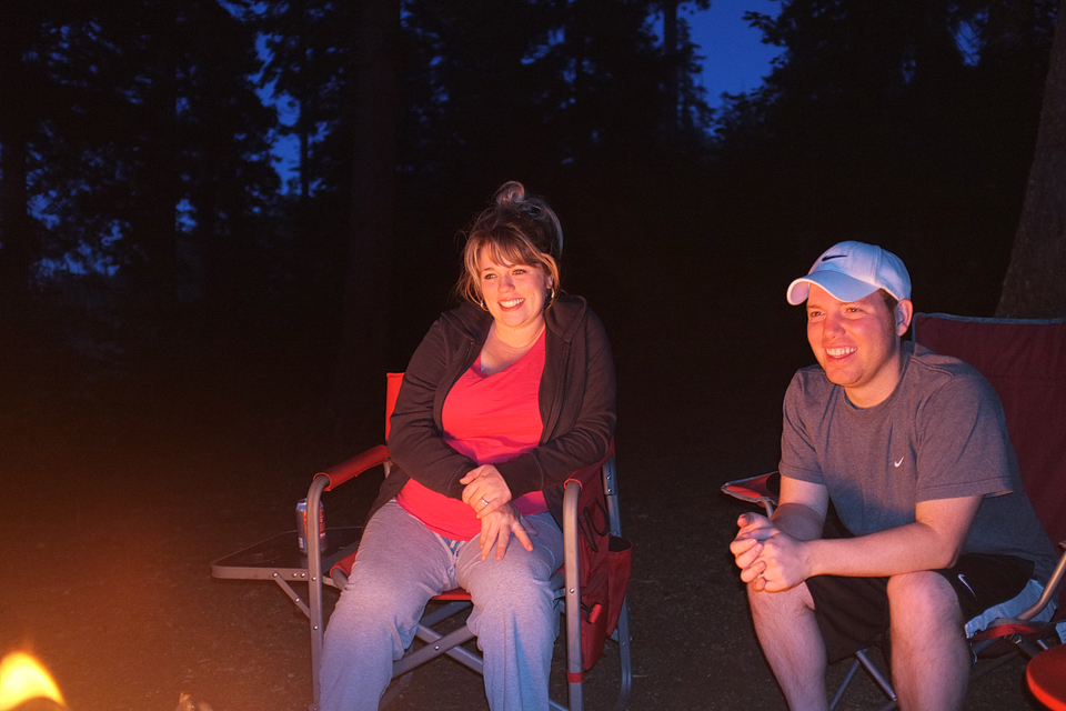 Lindsey and Cory joined us for some tent camping…a trooper at 8 months pregnant!