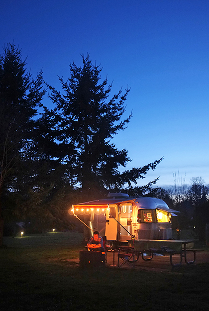 Beautiful campsites, large and private.