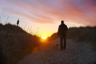 Heading over the dunes for sunset…got really lucky with this photo! Love it!