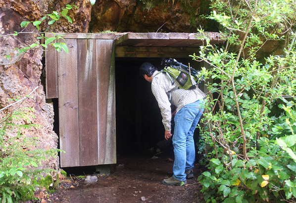 Old mine shaft near the beginning of the hike.