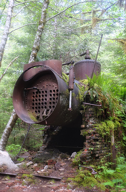 Old Boiler near the Sawmill. Kind of fun to walk around and explore.