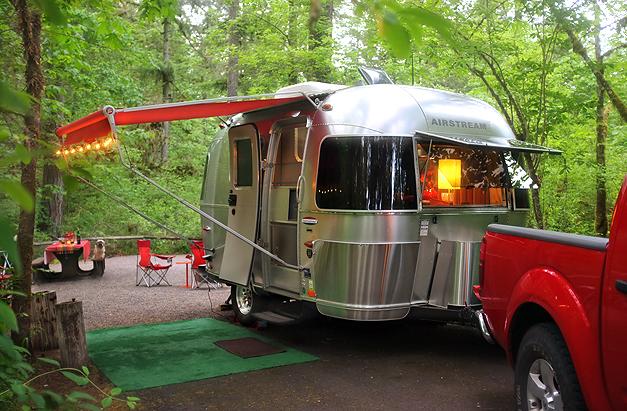 Private campsite at Fisherman's Bend.