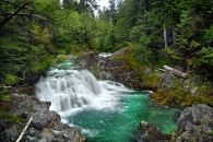 View of Sawmill Falls..not to be missed!