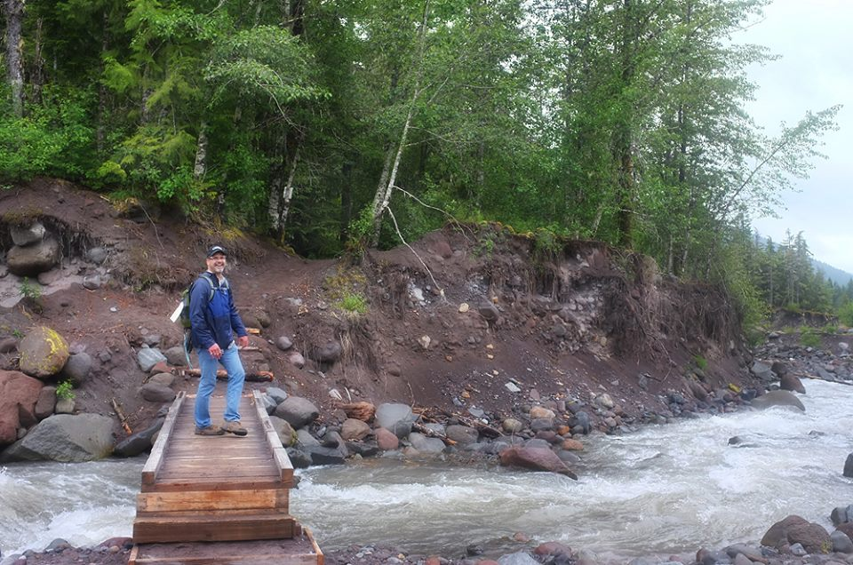 Later in the season, this bridge was washed away along with a hiker during a severe thunderstorm.