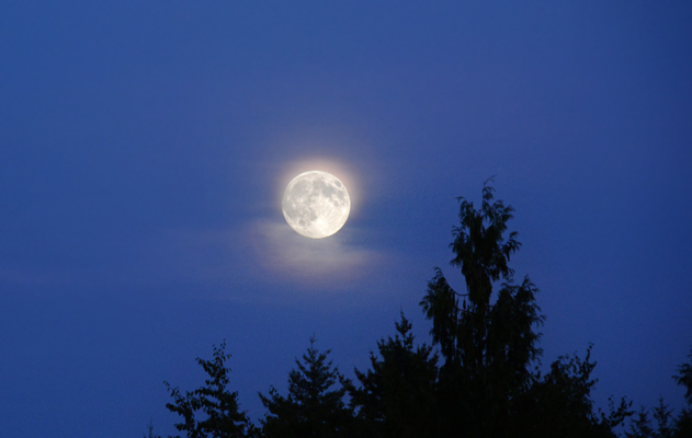 As night fell…even a full moon!