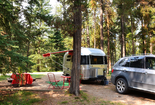 Our campsite in Jasper National Park. We were very impressed by the Canadian National Park Campgrounds!