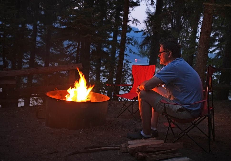 Campfires were still allowed for the first two nights. The days were warm but the nights were COLD!